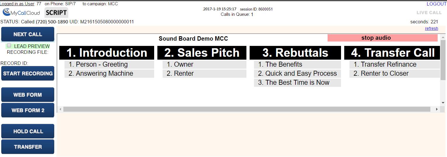 Soundboarding solution