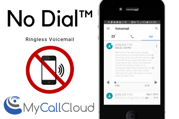 No Dial™ Ringless Voicemail from My Call Cloud
