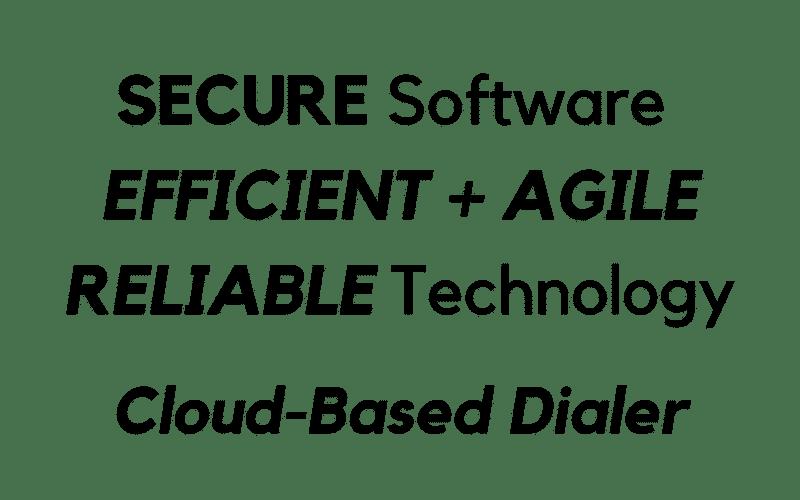 contact center cloud dialer software text