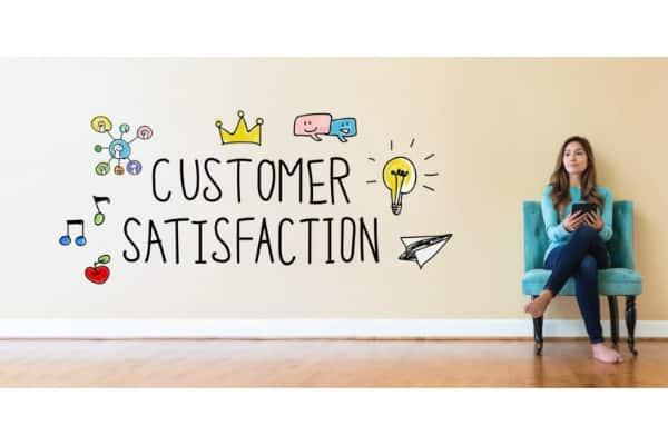 call center cx customer satisfaction writing on wall