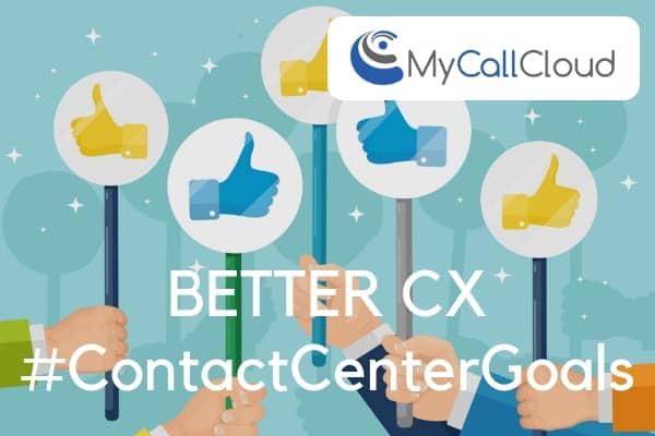 contact center cx thumbs up cartoon