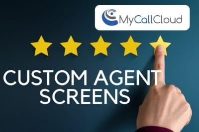 custom agent screens finger points at five stars
