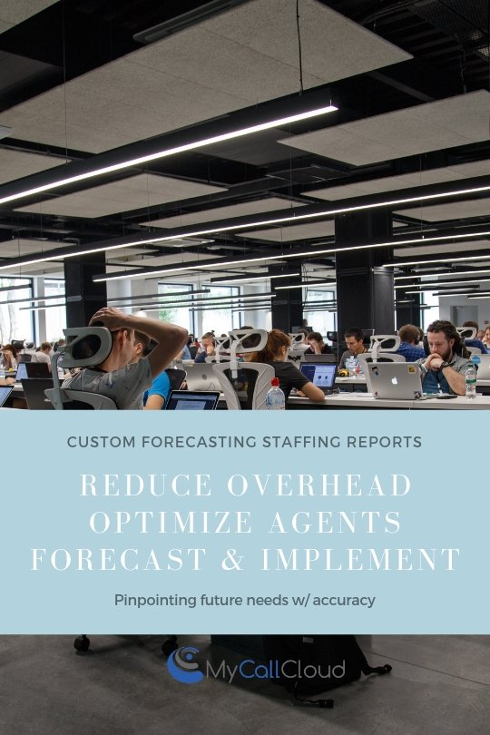 forecasting contact center staffing infographic