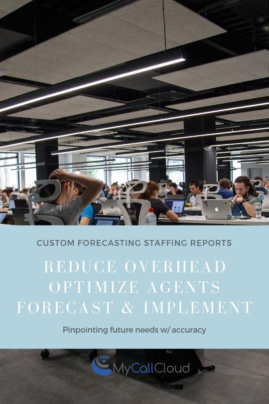 Call center staffing forecast