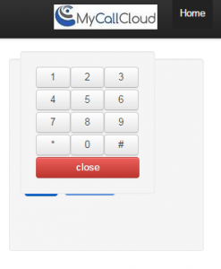 Web Phone Key Pad